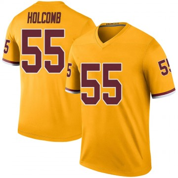 Youth Nike Washington Redskins Cole Holcomb Gold Color Rush Jersey - Legend