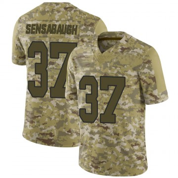 Youth Nike Washington Redskins Coty Sensabaugh Camo 2018 Salute to Service Jersey - Limited
