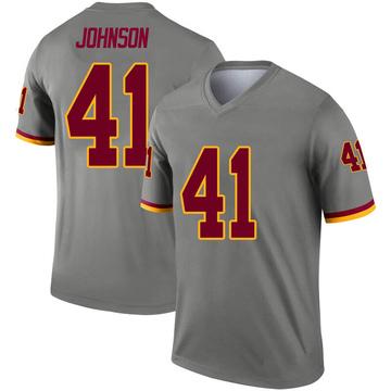 Youth Nike Washington Redskins Danny Johnson Gray Inverted Jersey - Legend