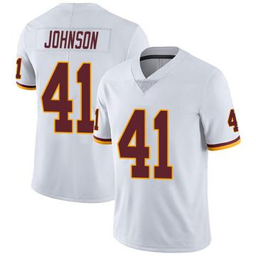 Youth Nike Washington Redskins Danny Johnson White Vapor Untouchable Jersey - Limited