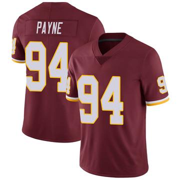 Youth Nike Washington Redskins Daron Payne Burgundy 100th Vapor Jersey - Limited