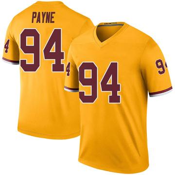 Youth Nike Washington Redskins Daron Payne Gold Color Rush Jersey - Legend