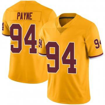 Youth Nike Washington Redskins Daron Payne Gold Color Rush Jersey - Limited