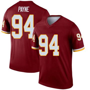 Youth Nike Washington Redskins Daron Payne Inverted Burgundy Jersey - Legend