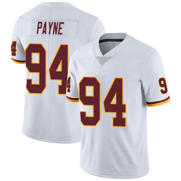 Youth Nike Washington Redskins Daron Payne White Vapor Untouchable Jersey - Limited