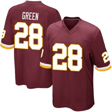 Youth Nike Washington Redskins Darrell Green Green Burgundy Team Color Jersey - Game