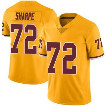 Youth Nike Washington Redskins David Sharpe Gold Color Rush Jersey - Limited