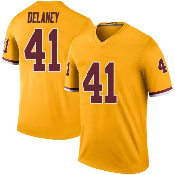 Youth Nike Washington Redskins Dee Delaney Gold Color Rush Jersey - Legend