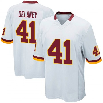 Youth Nike Washington Redskins Dee Delaney White Jersey - Game
