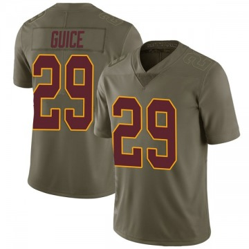 Youth Nike Washington Redskins Derrius Guice Green 2017 Salute to Service Jersey - Limited