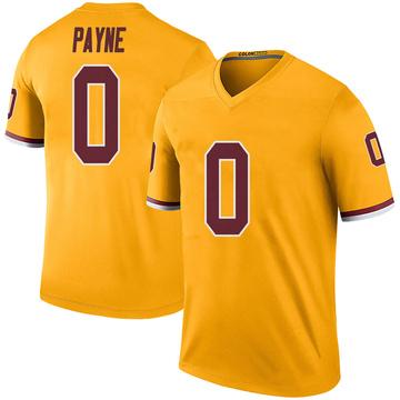 Youth Nike Washington Redskins Donald Payne Gold Color Rush Jersey - Legend