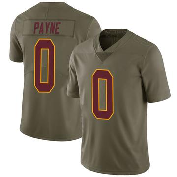 Youth Nike Washington Redskins Donald Payne Green 2017 Salute to Service Jersey - Limited