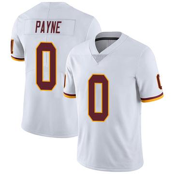 Youth Nike Washington Redskins Donald Payne White Vapor Untouchable Jersey - Limited