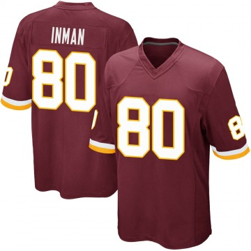 Youth Nike Washington Redskins Dontrelle Inman Burgundy Team Color Jersey - Game