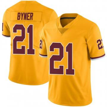 Youth Nike Washington Redskins Earnest Byner Gold Color Rush Jersey - Limited