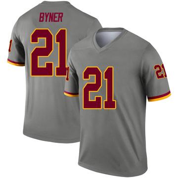 Youth Nike Washington Redskins Earnest Byner Gray Inverted Jersey - Legend