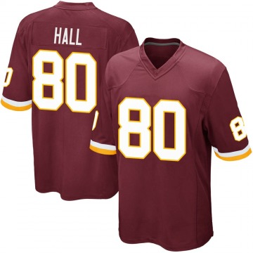 Youth Nike Washington Redskins Emanuel Hall Burgundy Team Color Jersey - Game