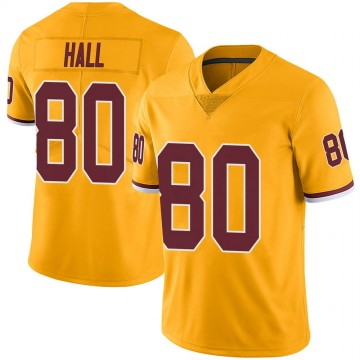 Youth Nike Washington Redskins Emanuel Hall Gold Color Rush Jersey - Limited