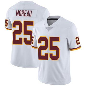 Youth Nike Washington Redskins Fabian Moreau White Vapor Untouchable Jersey - Limited