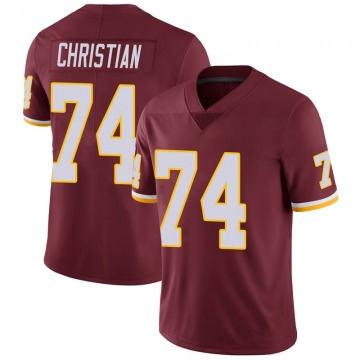 Youth Nike Washington Redskins Geron Christian Burgundy 100th Vapor Jersey - Limited