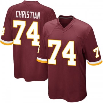 Youth Nike Washington Redskins Geron Christian Burgundy Team Color Jersey - Game
