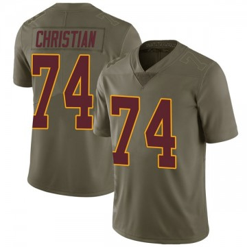 Youth Nike Washington Redskins Geron Christian Green 2017 Salute to Service Jersey - Limited