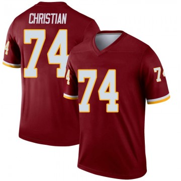 Youth Nike Washington Redskins Geron Christian Inverted Burgundy Jersey - Legend