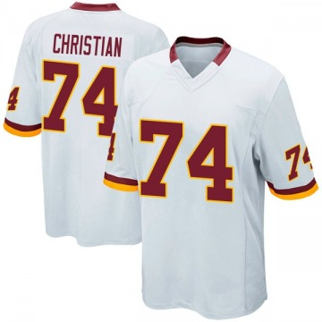 Youth Nike Washington Redskins Geron Christian White Jersey - Game