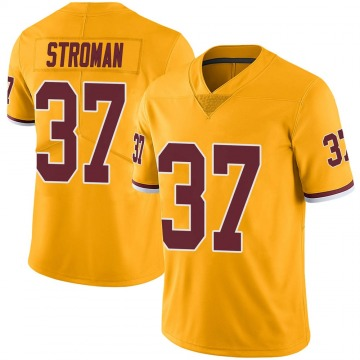Youth Nike Washington Redskins Greg Stroman Gold Color Rush Jersey - Limited
