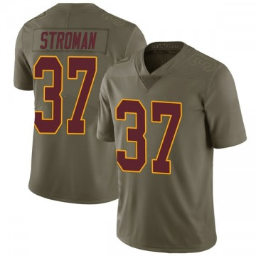 Youth Nike Washington Redskins Greg Stroman Green 2017 Salute to Service Jersey - Limited