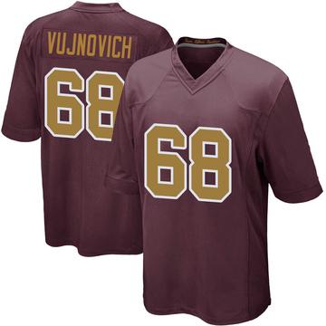 Youth Nike Washington Redskins Jeremy Vujnovich Burgundy Alternate Jersey - Game