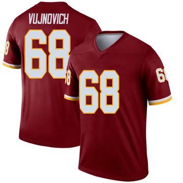 Youth Nike Washington Redskins Jeremy Vujnovich Burgundy Jersey - Legend