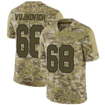 Youth Nike Washington Redskins Jeremy Vujnovich Camo 2018 Salute to Service Jersey - Limited