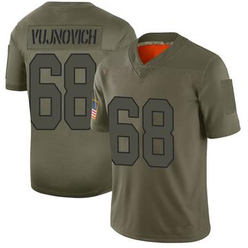 Youth Nike Washington Redskins Jeremy Vujnovich Camo 2019 Salute to Service Jersey - Limited
