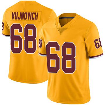 Youth Nike Washington Redskins Jeremy Vujnovich Gold Color Rush Jersey - Limited