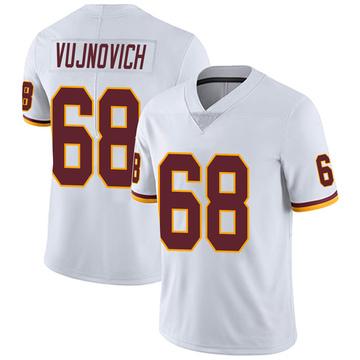 Youth Nike Washington Redskins Jeremy Vujnovich White Vapor Untouchable Jersey - Limited