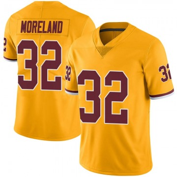 Youth Nike Washington Redskins Jimmy Moreland Gold Color Rush Jersey - Limited