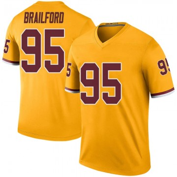 Youth Nike Washington Redskins Jordan Brailford Gold Color Rush Jersey - Legend
