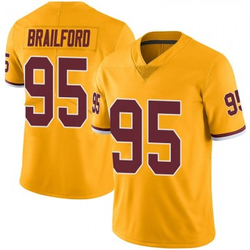 Youth Nike Washington Redskins Jordan Brailford Gold Color Rush Jersey - Limited