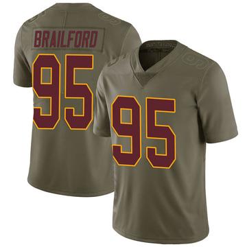 Youth Nike Washington Redskins Jordan Brailford Green 2017 Salute to Service Jersey - Limited