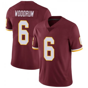 Youth Nike Washington Redskins Josh Woodrum Burgundy 100th Vapor Jersey - Limited
