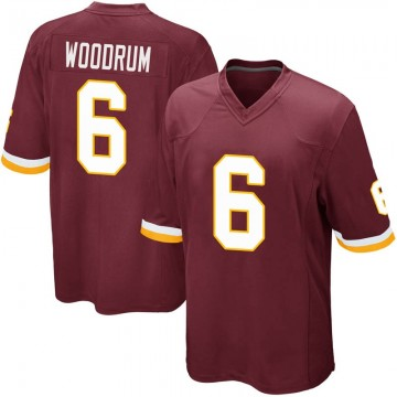 Youth Nike Washington Redskins Josh Woodrum Burgundy Team Color Jersey - Game
