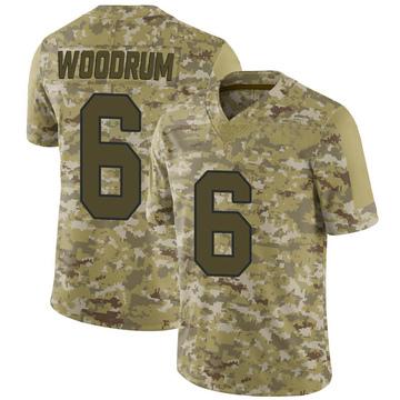 Youth Nike Washington Redskins Josh Woodrum Camo 2018 Salute to Service Jersey - Limited