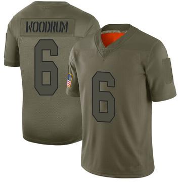 Youth Nike Washington Redskins Josh Woodrum Camo 2019 Salute to Service Jersey - Limited