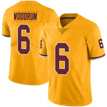 Youth Nike Washington Redskins Josh Woodrum Gold Color Rush Jersey - Limited