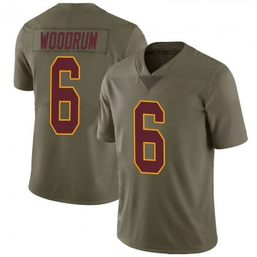 Youth Nike Washington Redskins Josh Woodrum Green 2017 Salute to Service Jersey - Limited