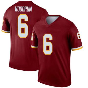 Youth Nike Washington Redskins Josh Woodrum Inverted Burgundy Jersey - Legend