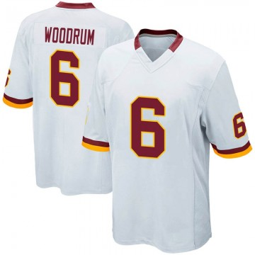 Youth Nike Washington Redskins Josh Woodrum White Jersey - Game
