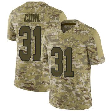 Youth Nike Washington Redskins Kamren Curl Camo 2018 Salute to Service Jersey - Limited