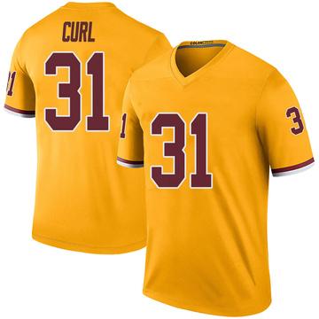 Youth Nike Washington Redskins Kamren Curl Gold Color Rush Jersey - Legend